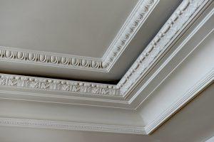 ceiling rose in cornice