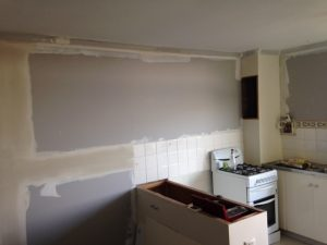 wall repair in the kitchen