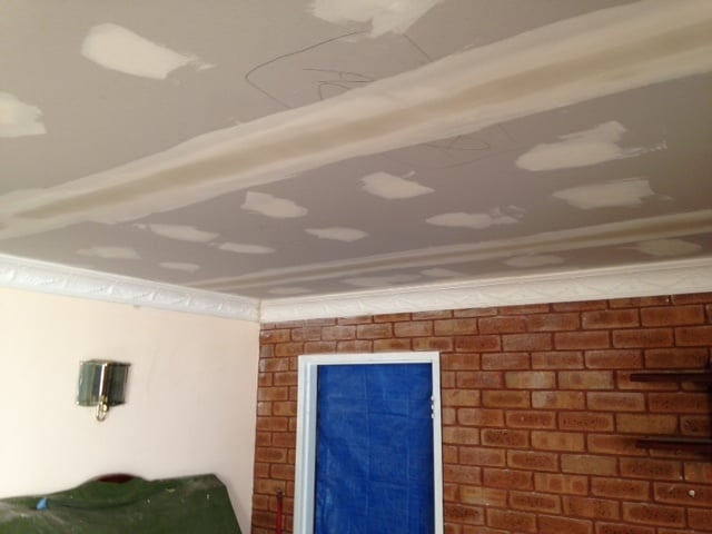 gyprock ceiling repair process