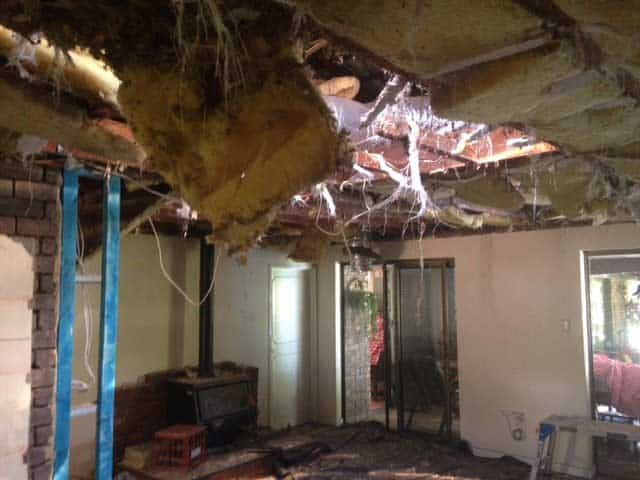 water damage ceiling to collapse