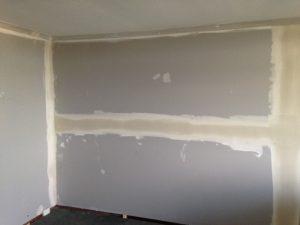 wall repairs on process