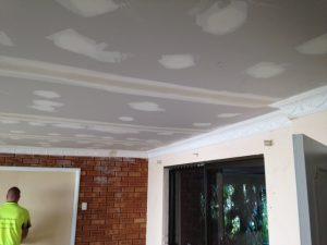 plaster ceiling repair and cornice repair