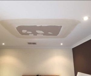 water damaged ceiling repair process